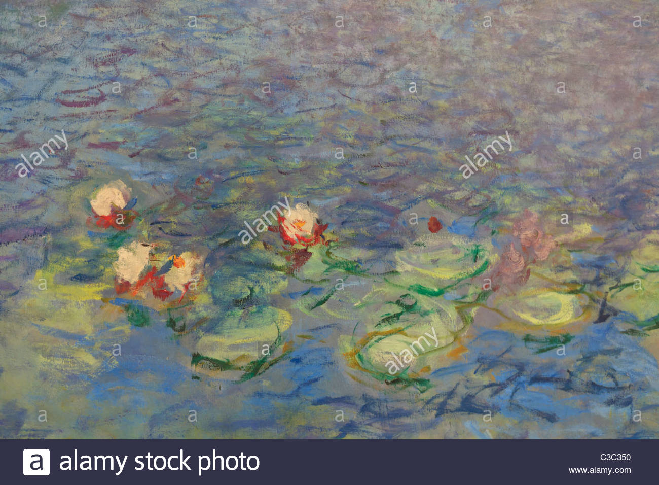 The Water Lilies By Claude Monet, The Orangery, Tuileries Garden, Paris    Stock