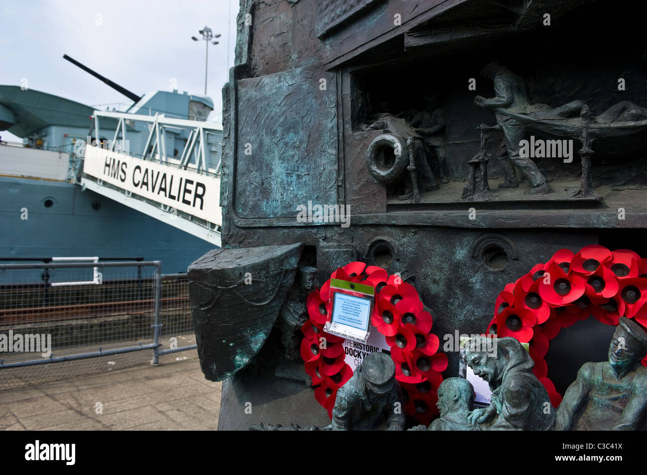 The Destroyer Memorial at the Chatham Historic Dockyard in Kent. - Stock Image