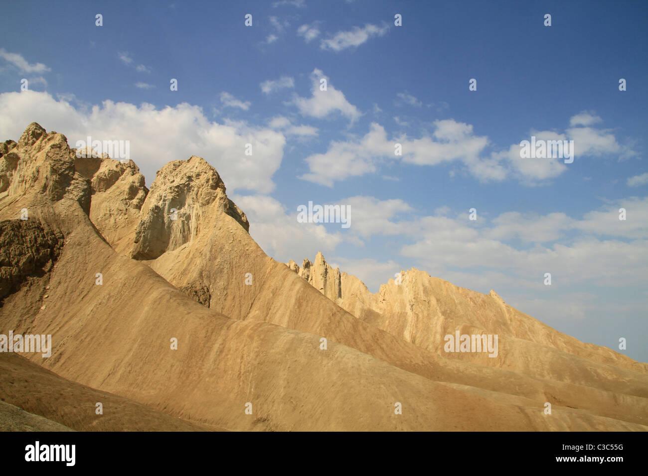 Israel, Dead Sea valley, Mount Sodom by the Dead Sea Stock Photo