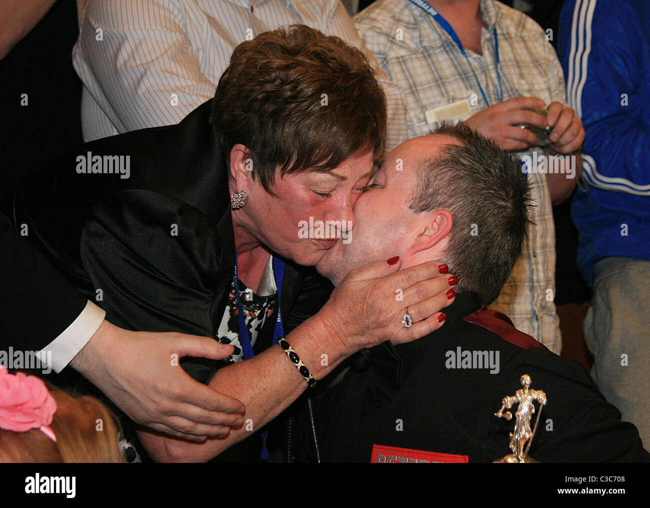 02.05.2011 -John Higgins with his mother Josie Higgins - Stock Image