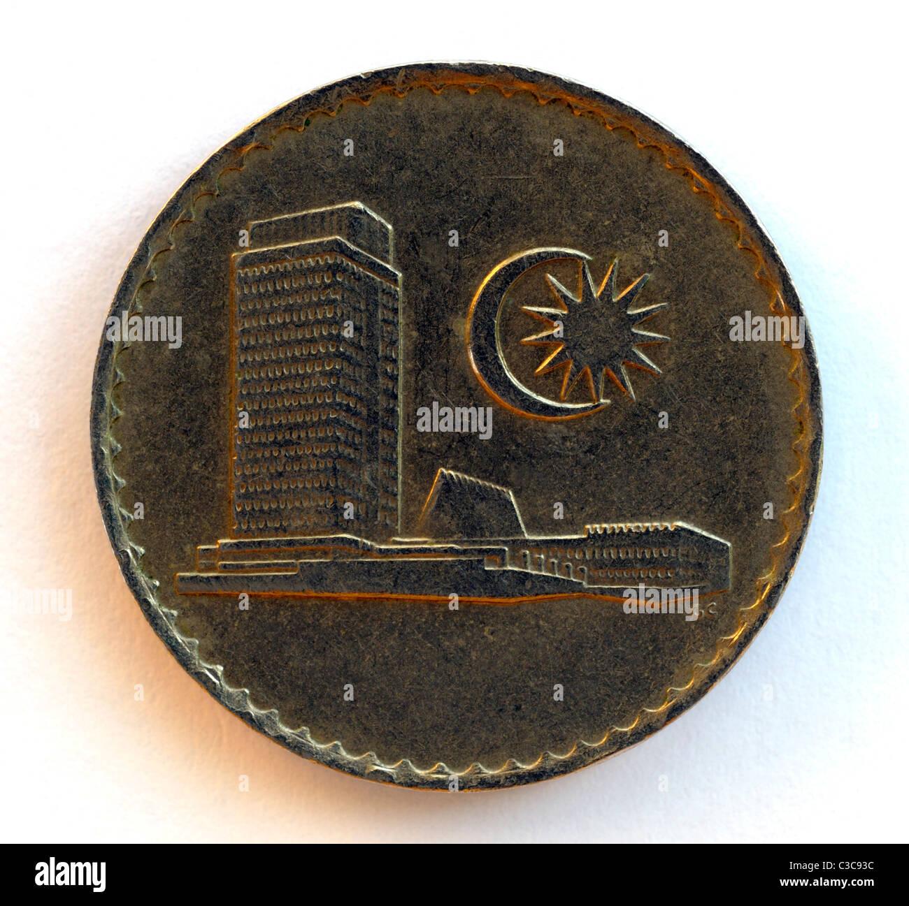 Malaysia 50 Fifty Sen Coin. - Stock Image