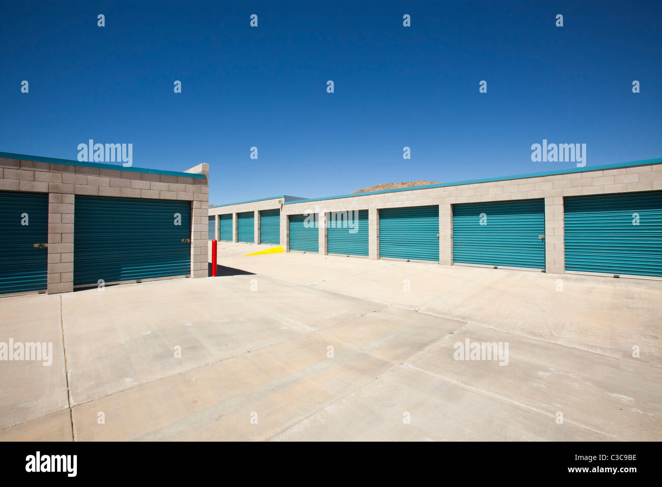 Storage Facility, Yucca Valley, California, United States Of America    Stock Image