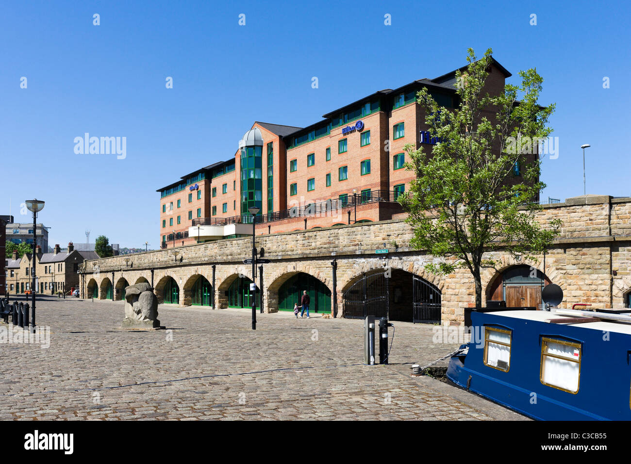 The Hilton Hotel in Victoria Quays, Sheffield, South Yorkshire, UK - Stock Image
