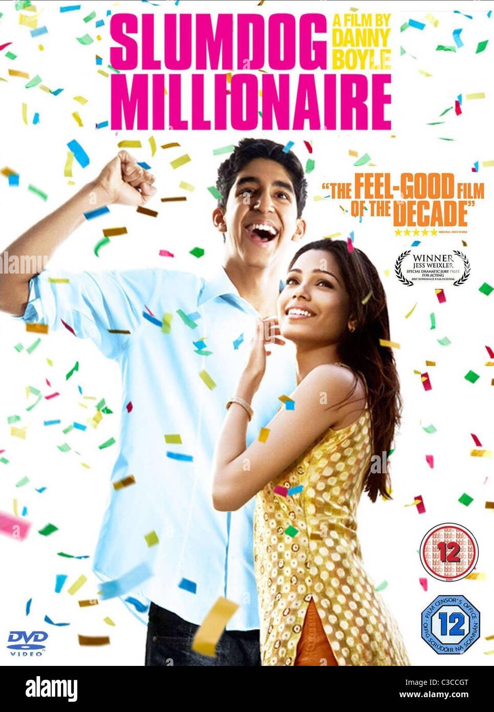 Dev Patel Freida Pinto Poster Slumdog Millionaire 2008 Stock Photo Alamy