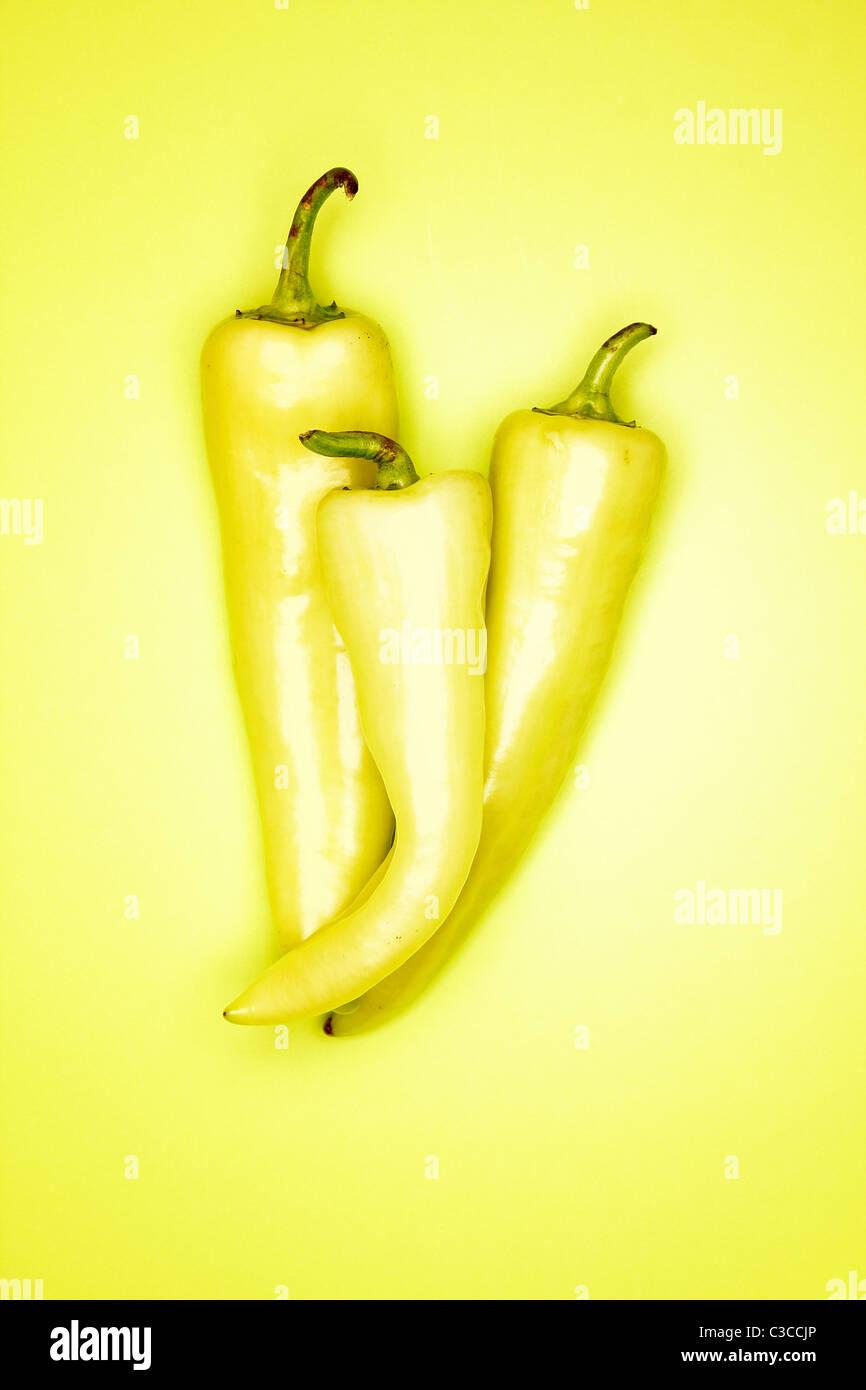 Banana Pepper - Stock Image