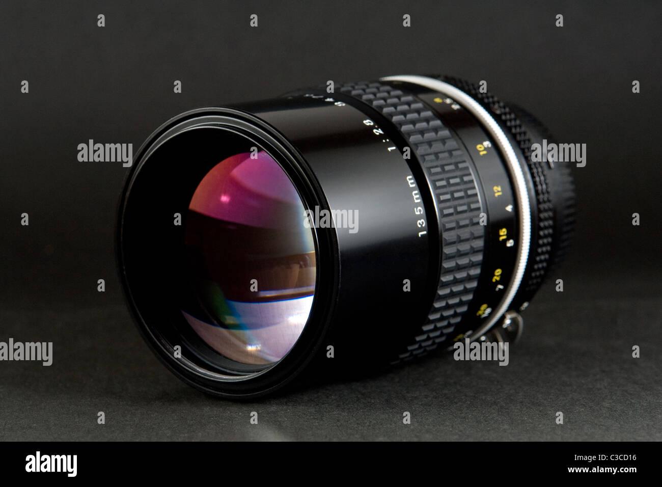 High Quality Professional DSLR Prime Lens - Stock Image