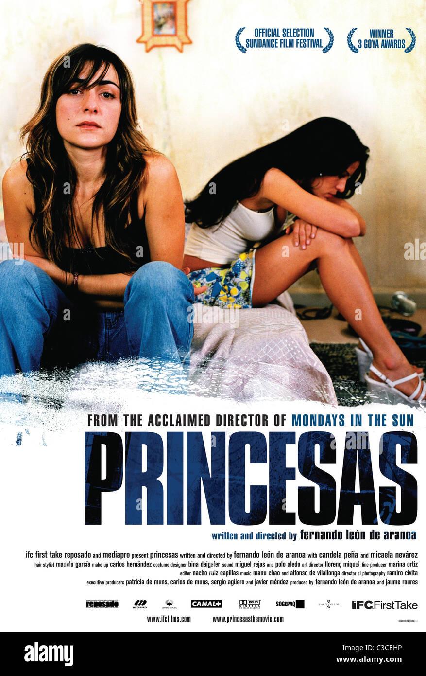 CANDELA PENA & MICAELA NEVAREZ POSTER PRINCESAS (2005) - Stock Image
