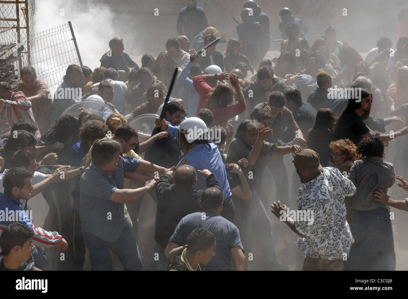 RIOT CELL 211 (2009) - Stock Image
