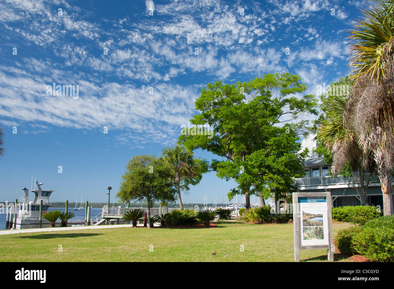 Georgia, St. Marys. Cumberland Island National Seashore Visitor's Center. Stock Photo