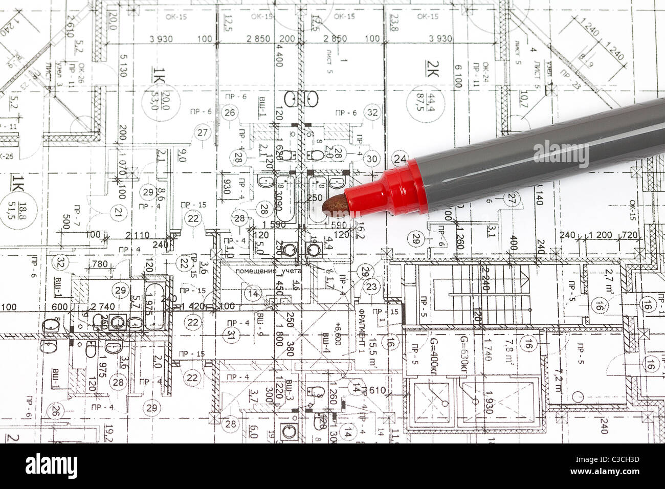 Schematic Drawings Stock Photos Images Architectural And Diagram Background Of The A Marker Image