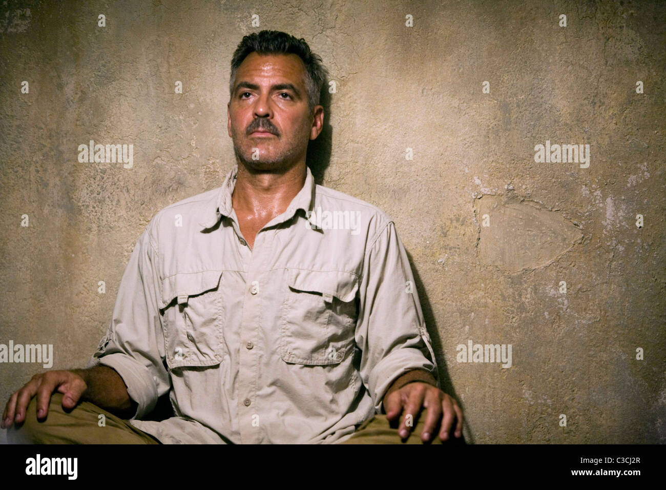 GEORGE CLOONEY THE MEN WHO STARE AT GOATS (2009) - Stock Image
