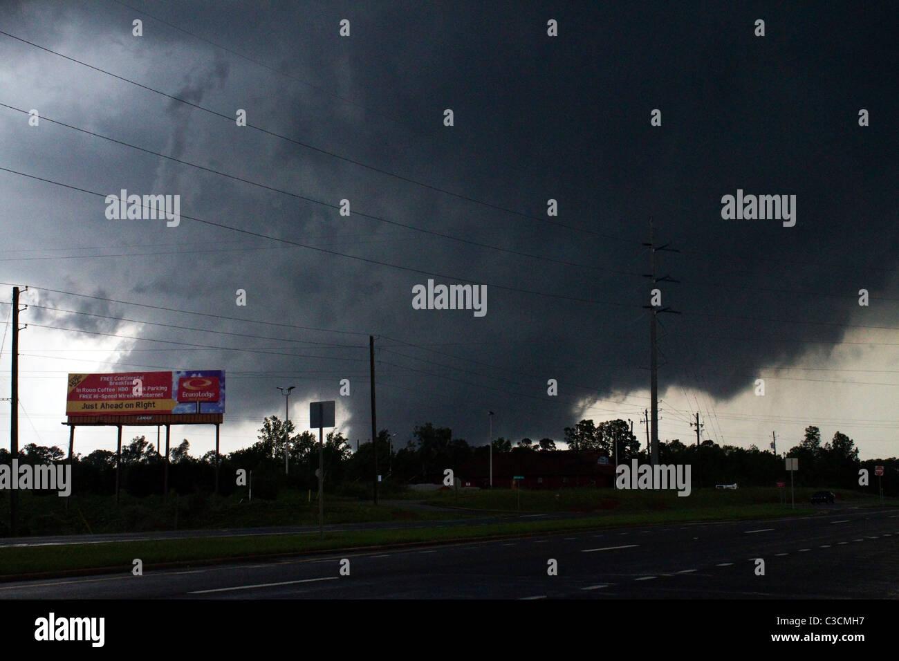 Tuscaloosa, Alabama tornado April 27, 2011 - Stock Image