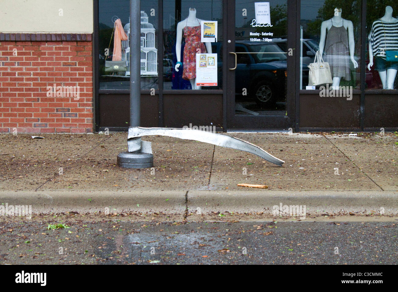 Tornado Damage in Tuscaloosa Alabama from the April 27th 2011 Tornado outbreak - Stock Image