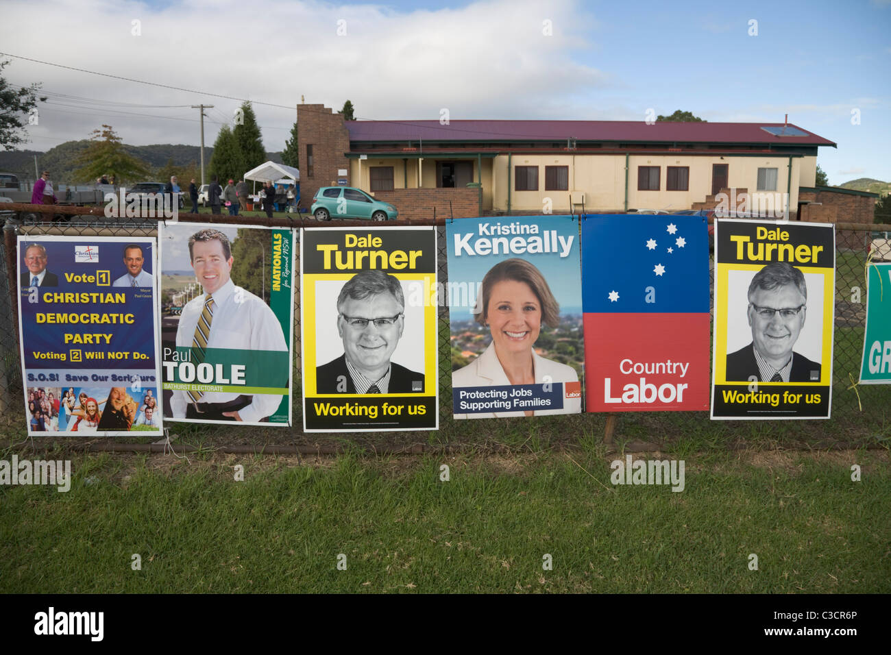 Campaign Posters of Candidates Standing at the 2011 State election of New South Wales, Australia - Stock Image