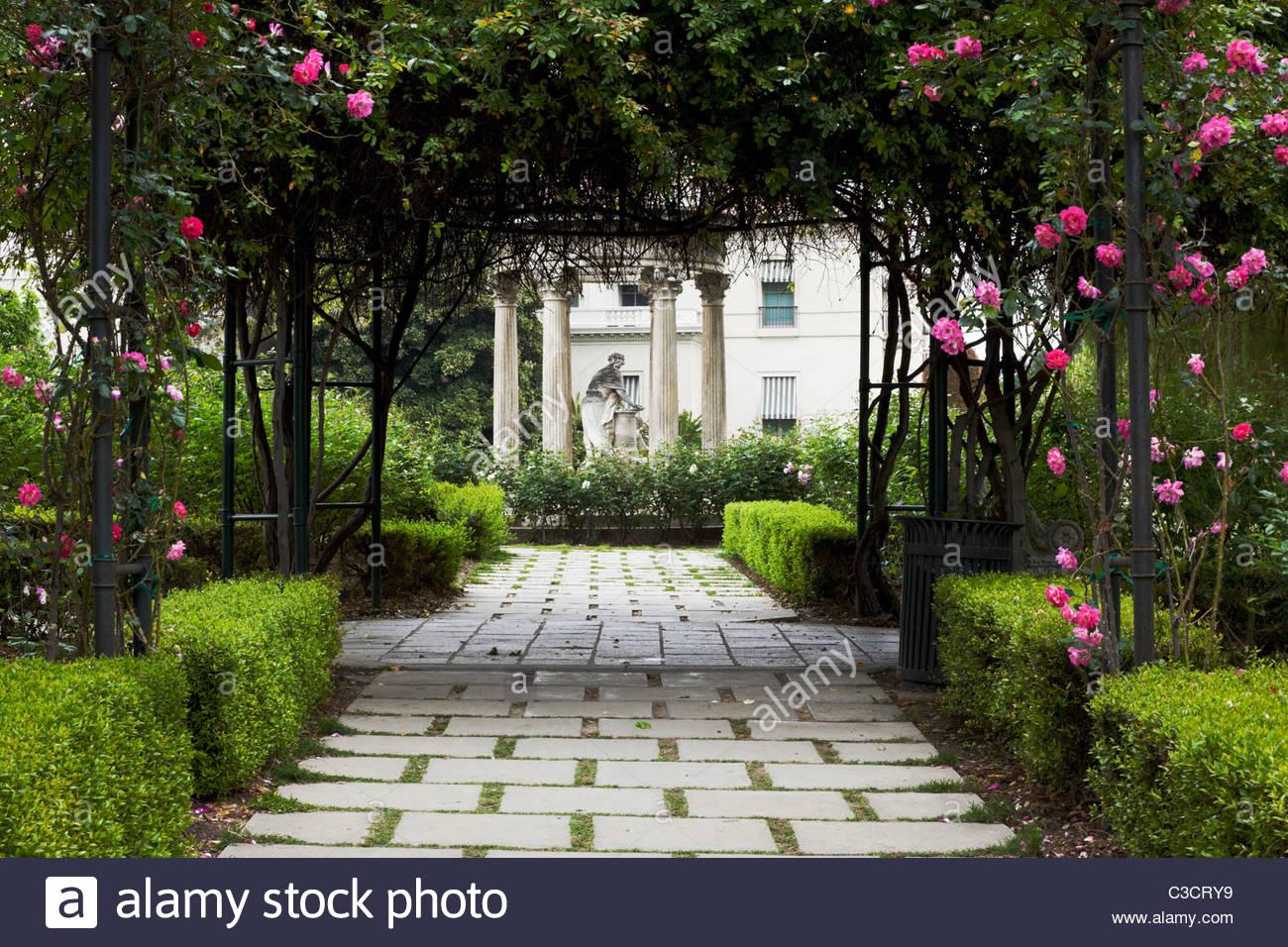 The Huntington Rose Garden Pathway San Marino California Stock