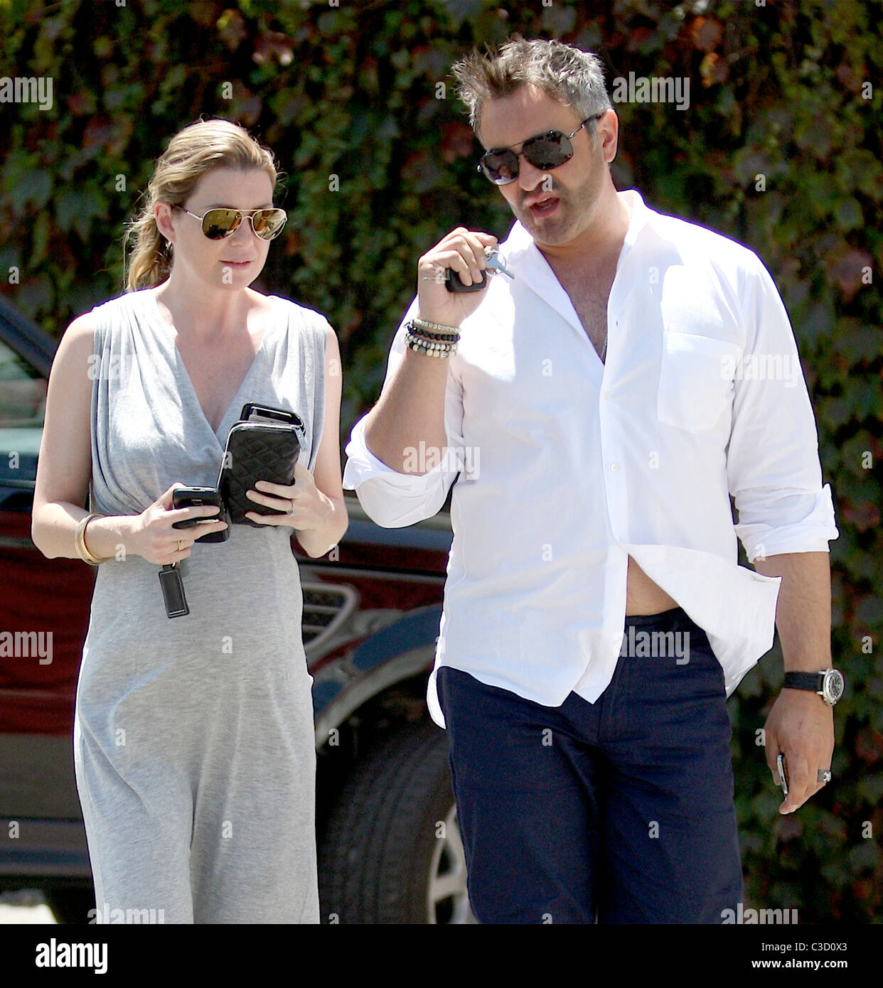 Ellen Pompeo Showing Off Her Baby Bump While Shopping For Furniture With A  Friend In West Hollywood Los Angeles, California