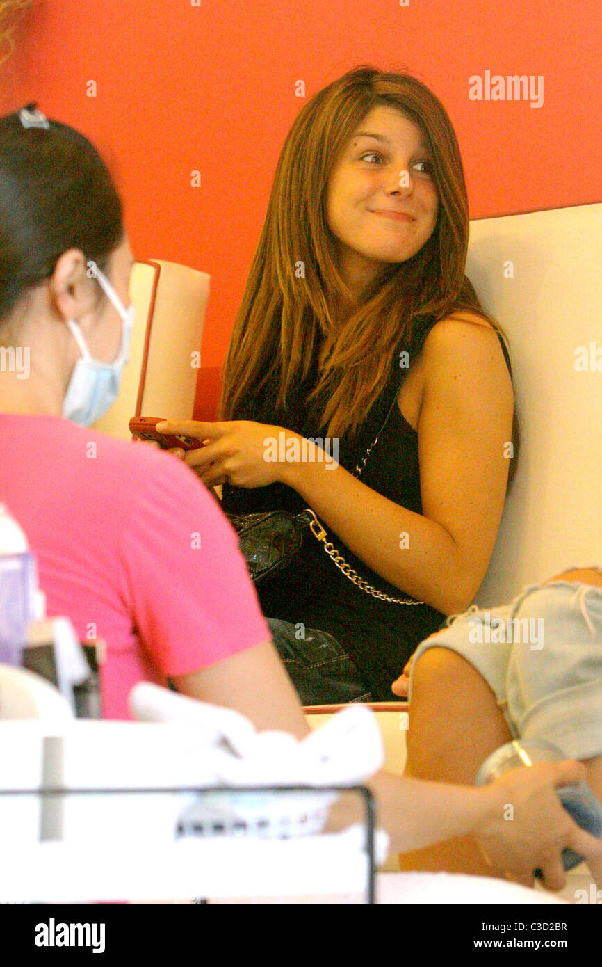 Shenae Grimes \'90210\' star getting a pedicure with a friend at Stock ...