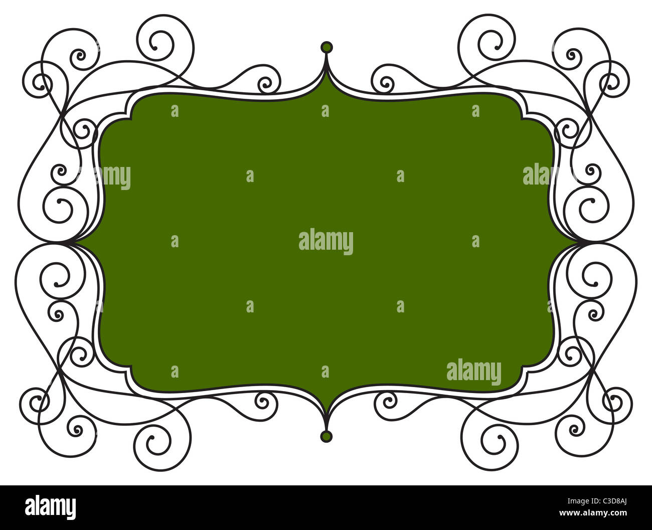 Vintage frame illustration - Exclusive to Alamy only - Stock Image