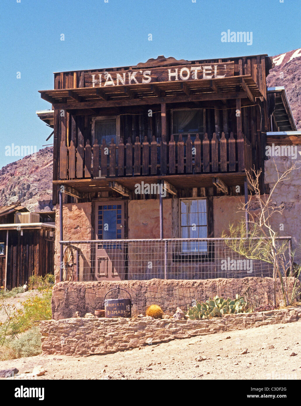 This is Hank's Hotel  in Calico Ghost Town the official silver rush town in California - Stock Image
