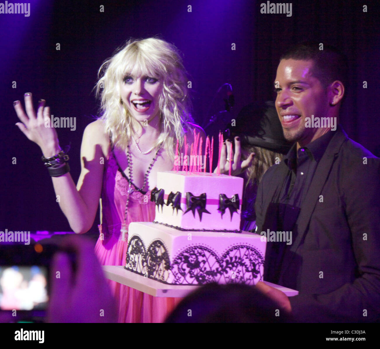 Taylor Momsen Blows Out Candles For Her 16th Birthday At Hiro Ballroom New York City USA