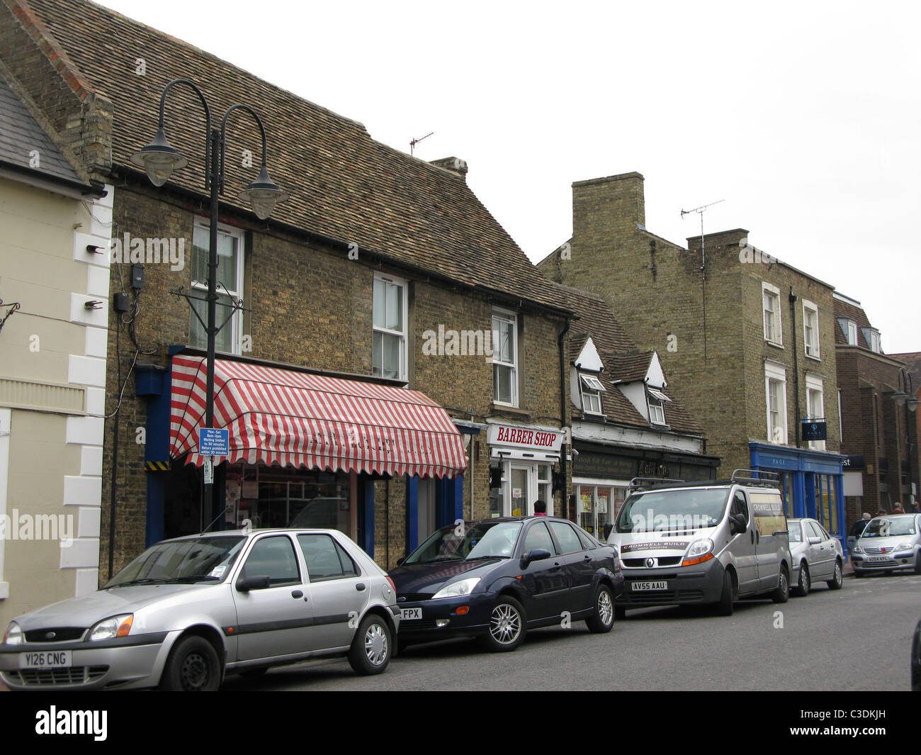 Butcher's Shop in market town (Ely) - Stock Image