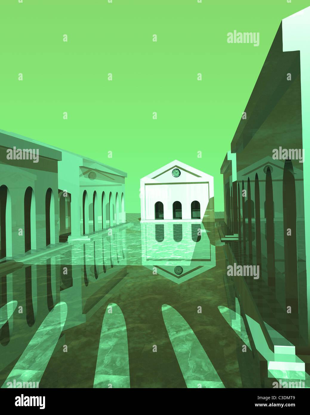 ACADEMIC BUILDINGS UNIVERSITY LEARNING ACADEMIA - Stock Image