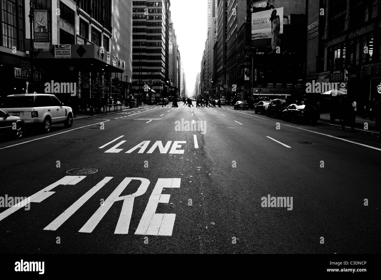 Fire lane - Stock Image