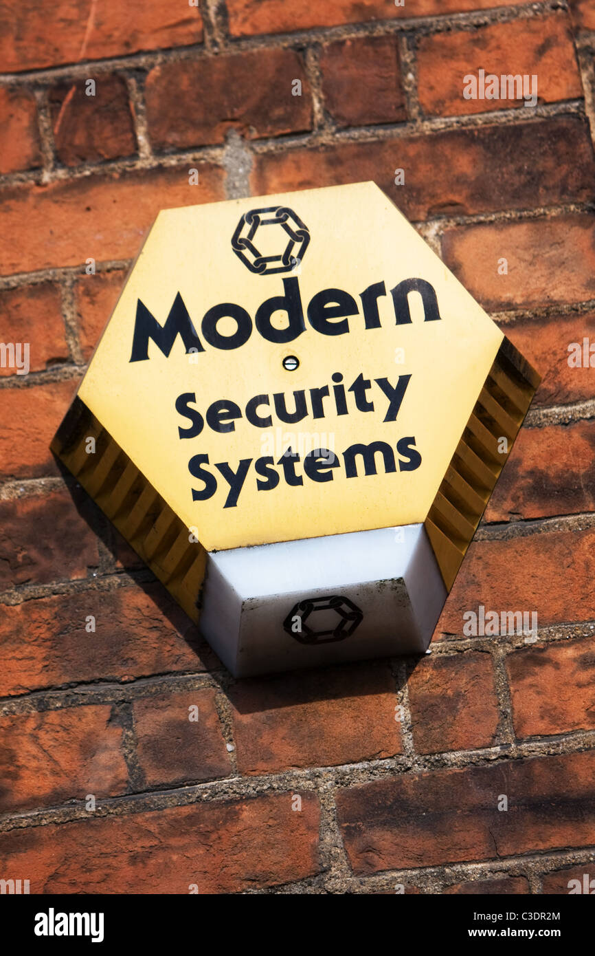 Modern Security Systems House Alarm - Stock Image
