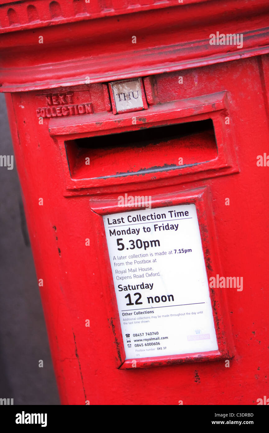 British Red Letter Box - Stock Image