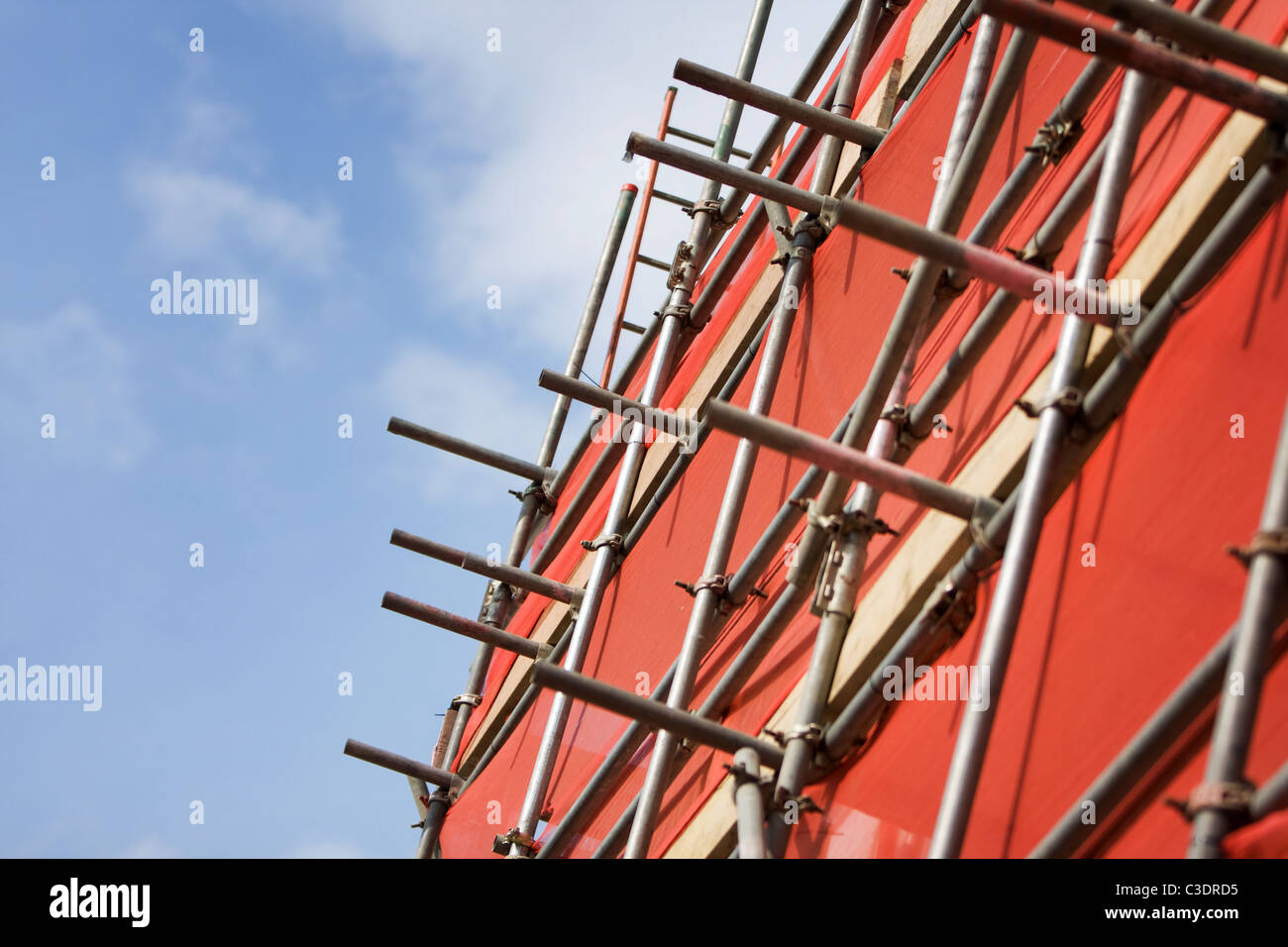 Scaffolding on a building - Stock Image