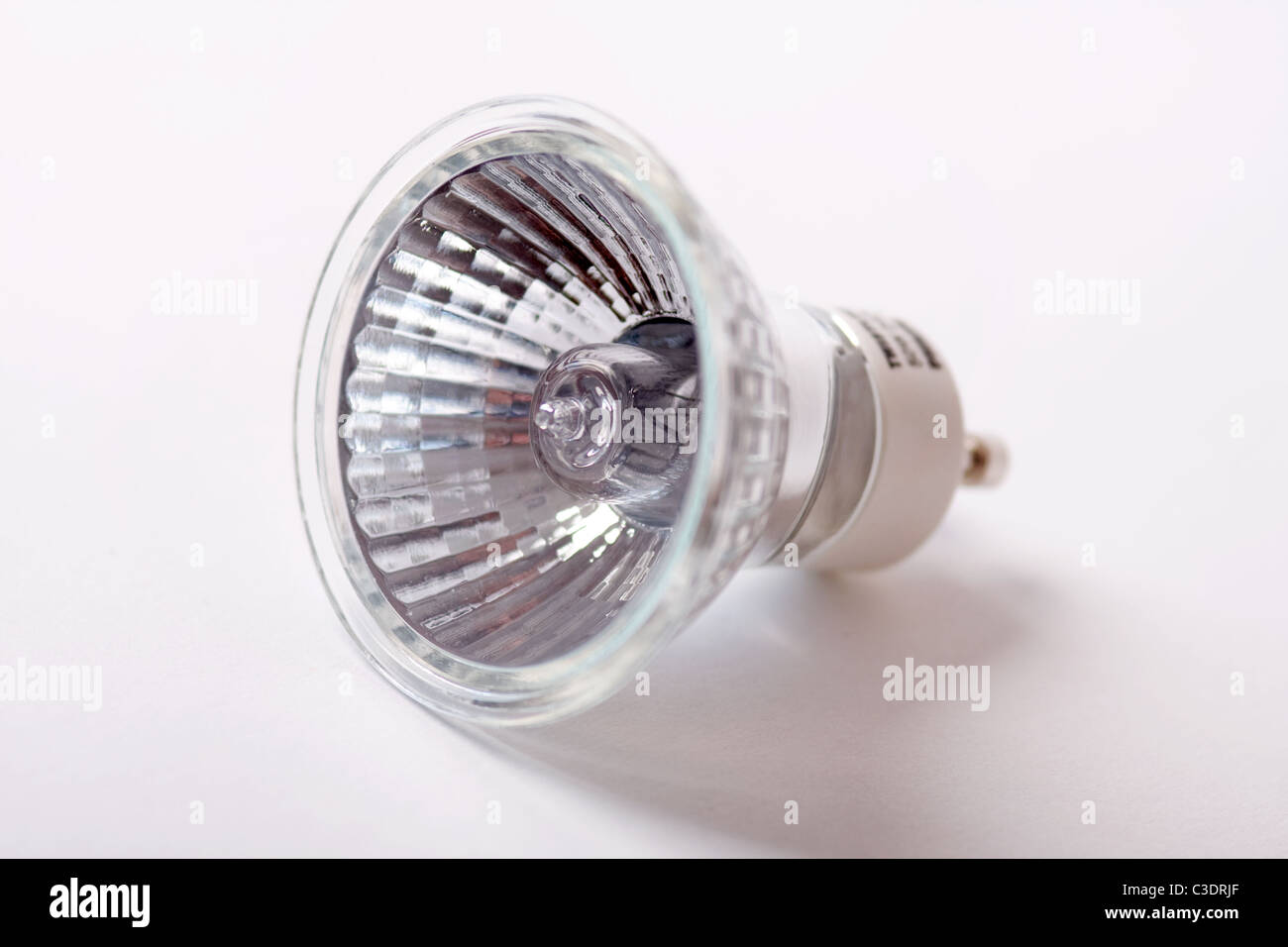 A Philips Twistline Halogen 240v 50w light bulb - Stock Image