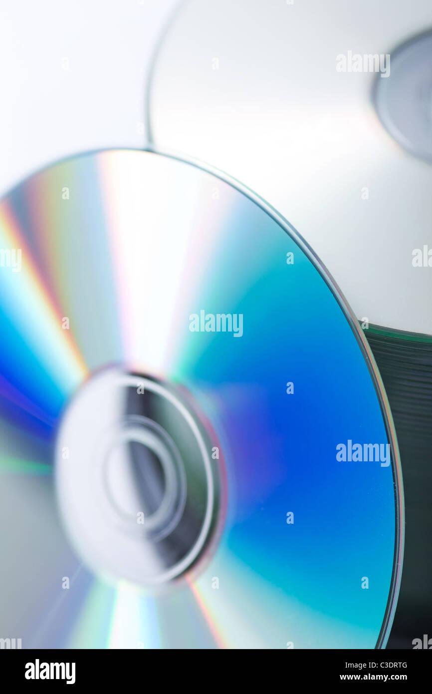 A blank CD disc Stock Photo