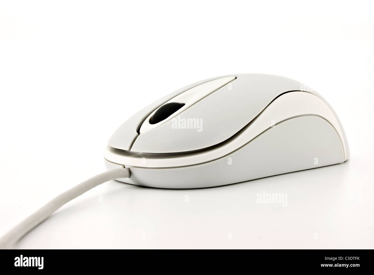 Close up of a white computer mouse Stock Photo