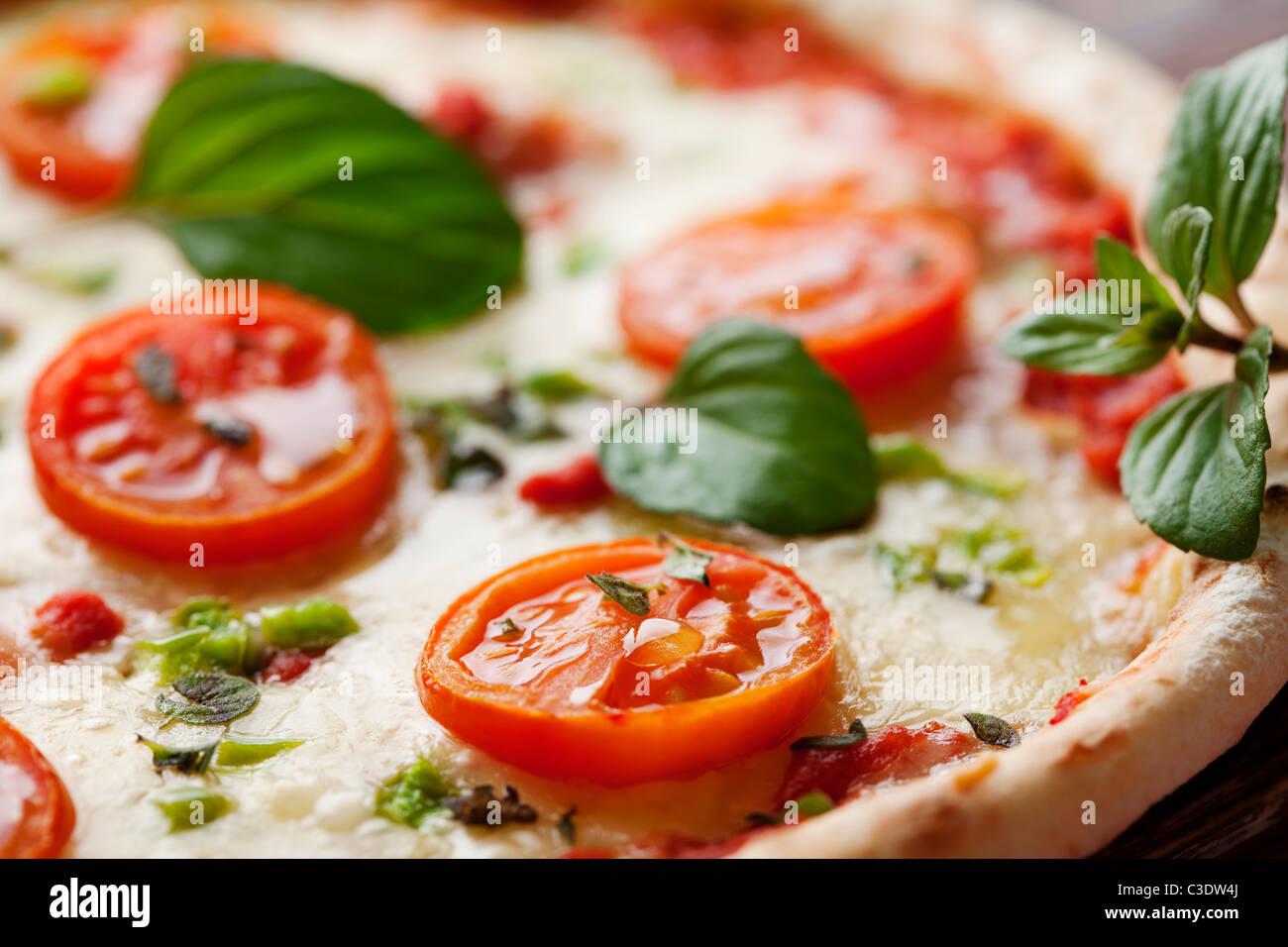 fresh italian pizza - Stock Image