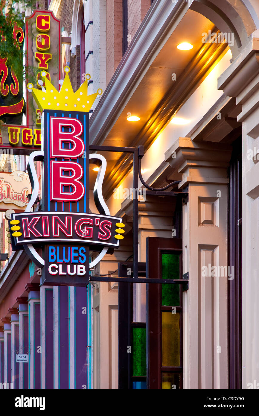 BB King's famous Blues Club along 2nd Avenue in downtown Nashville Tennessee USA - Stock Image