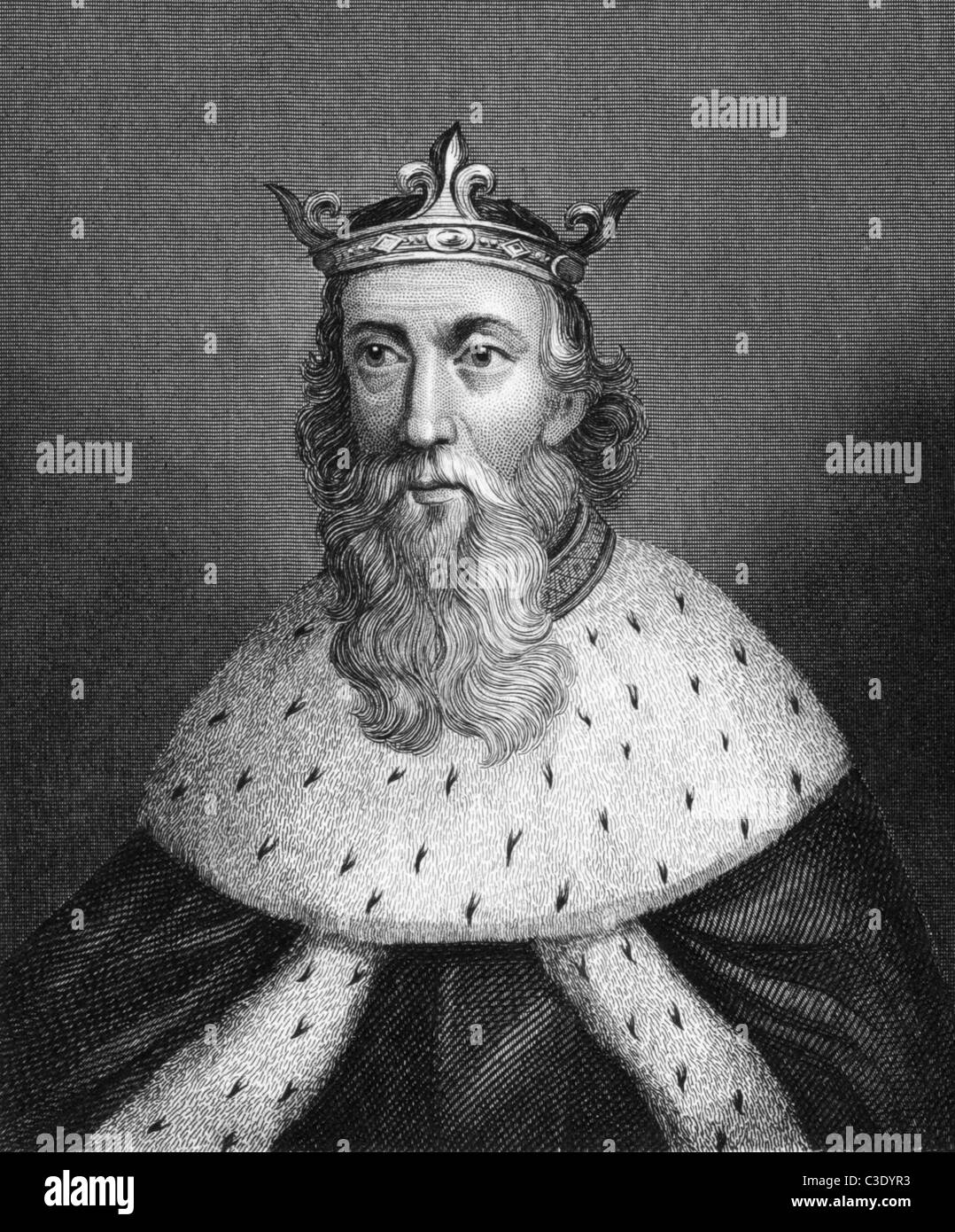 Henry I of England (1068-1135) on engraving from 1830. King of England during 1106-1135. Published in London by - Stock Image