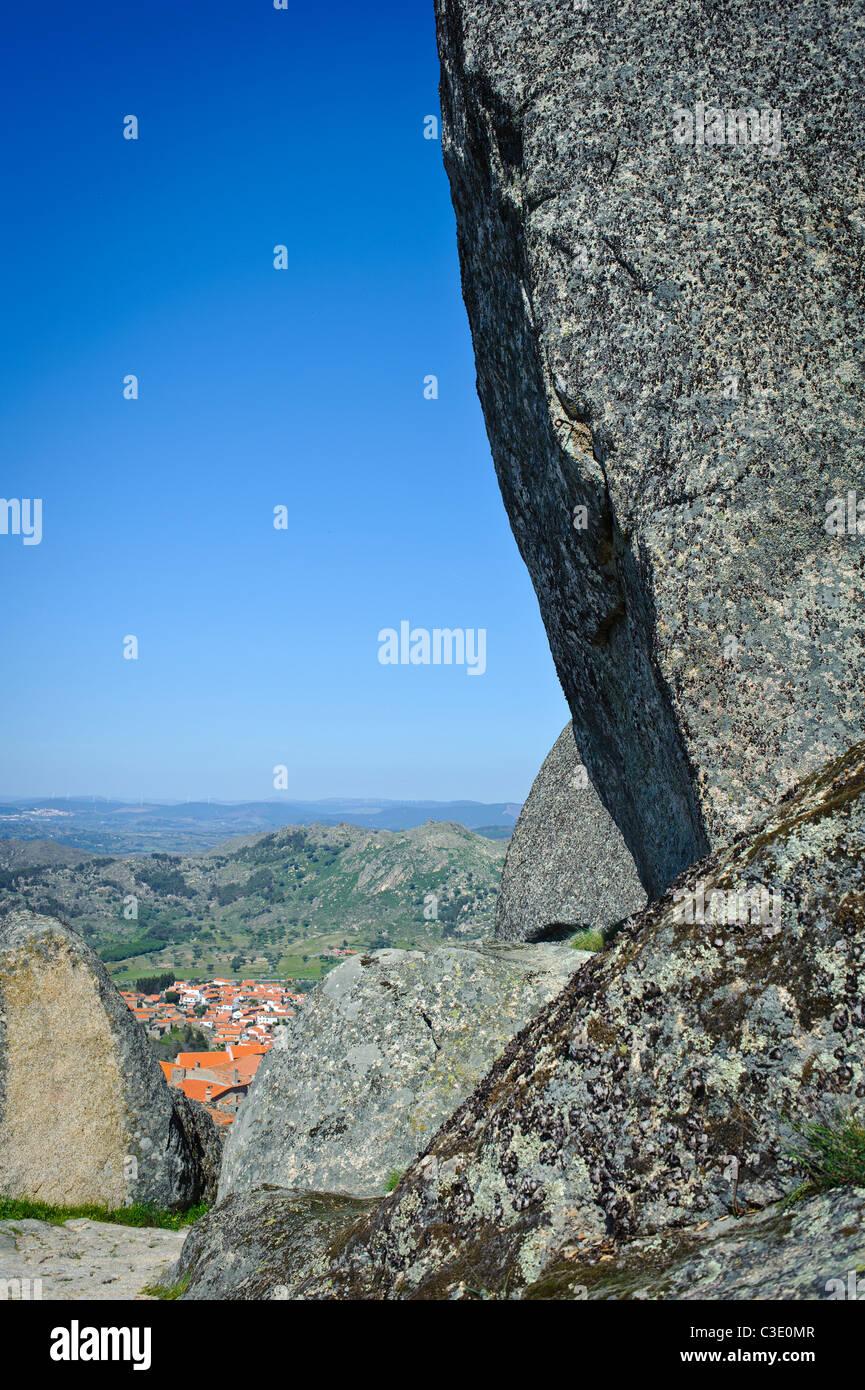 big rock over monsanto village - Stock Image