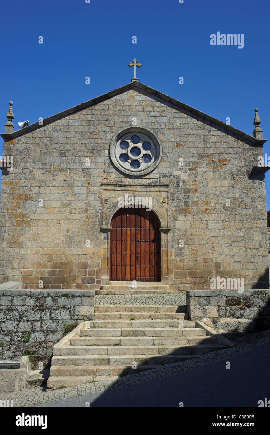 church in monsanto portugal - Stock Image