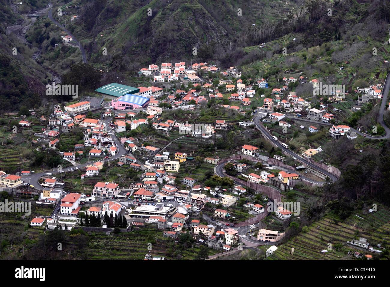 Nun's Valley Curral das Freiras Madeira - Stock Image