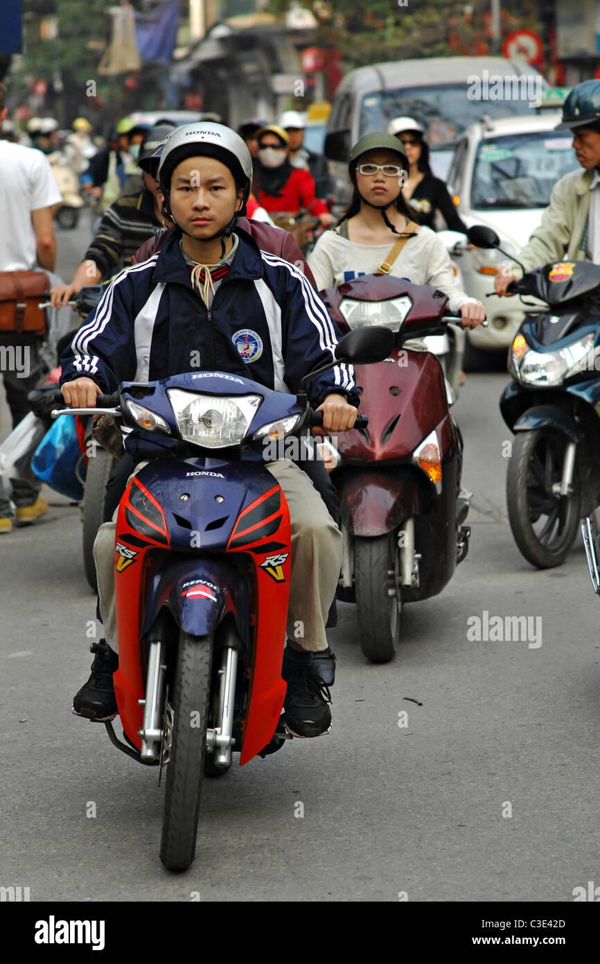 Streets of Hanoi - Stock Image