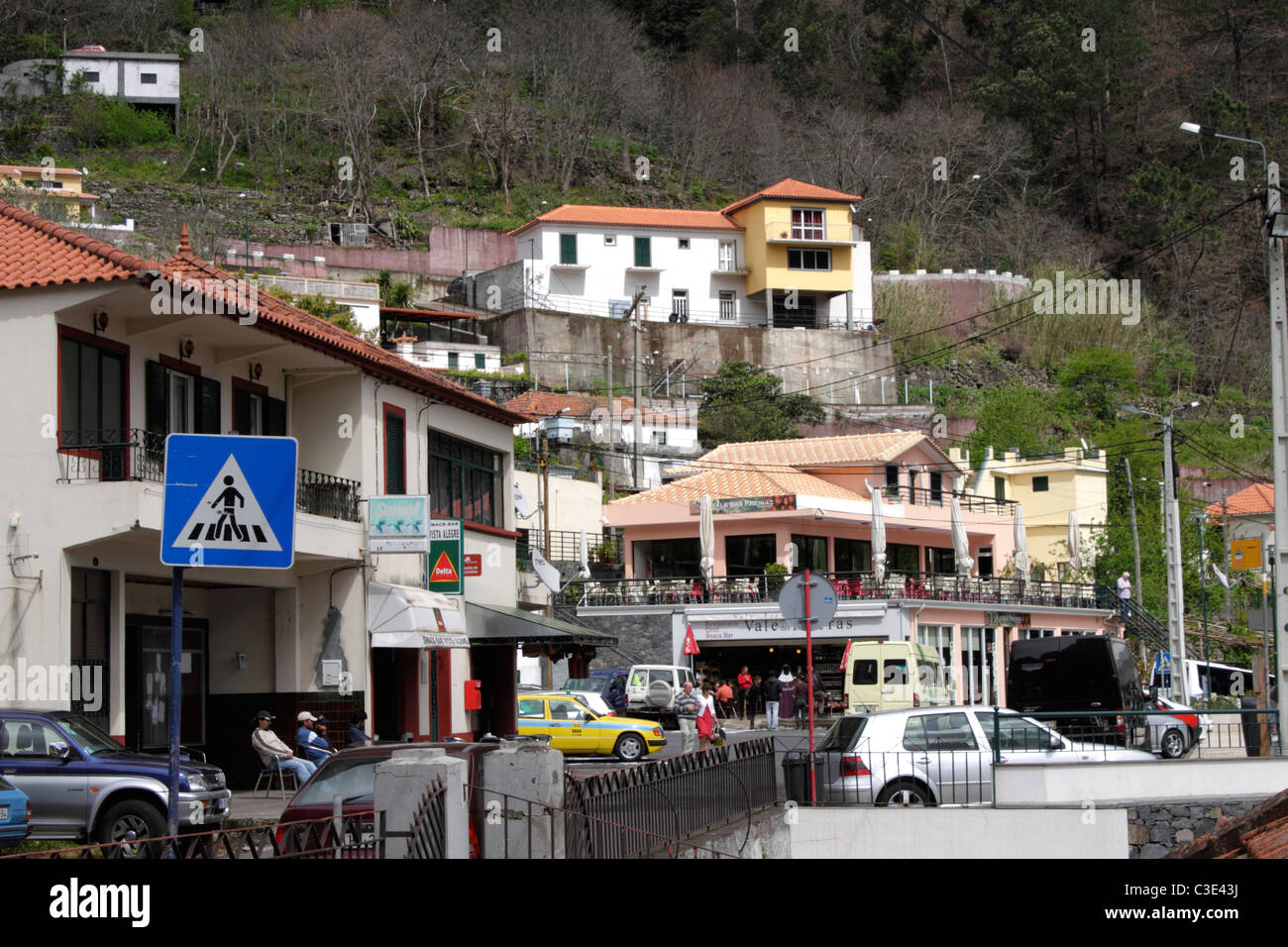 Nun's Valley Curral das Freiras village Madeira - Stock Image