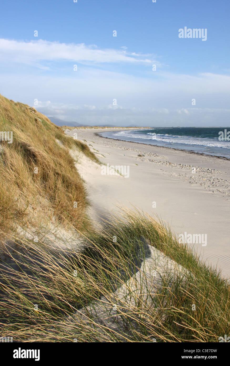 Sand dunes, Poll Na Crann ('Stinky Bay'), Benbecula, Outer Hebrides, Scotland, UK, May, 2010 - Stock Image