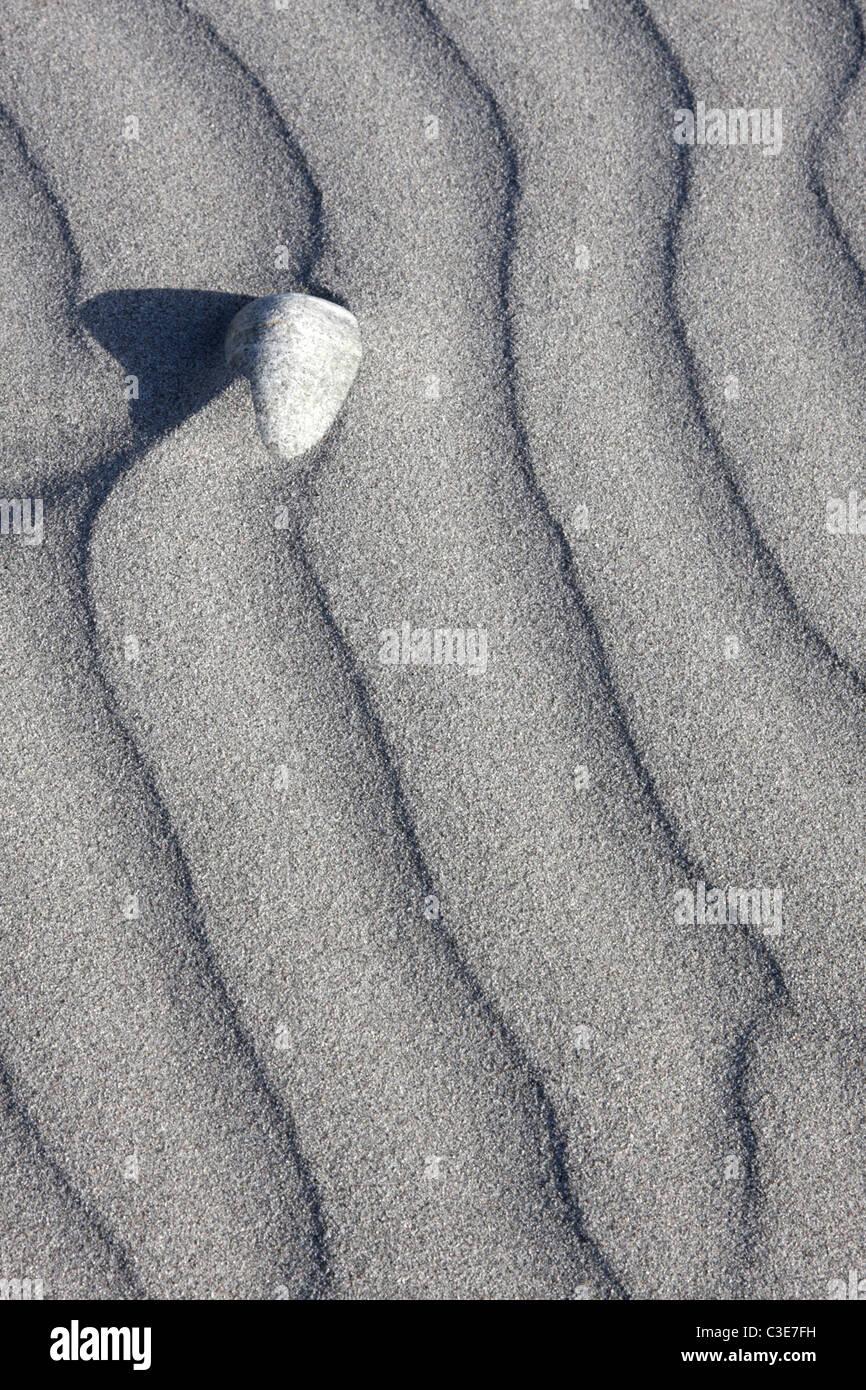 Sand patterns, Poll Na Crann ('Stinky Bay'), Benbecula, Outer Hebrides, Scotland, UK, May, 2010 - Stock Image