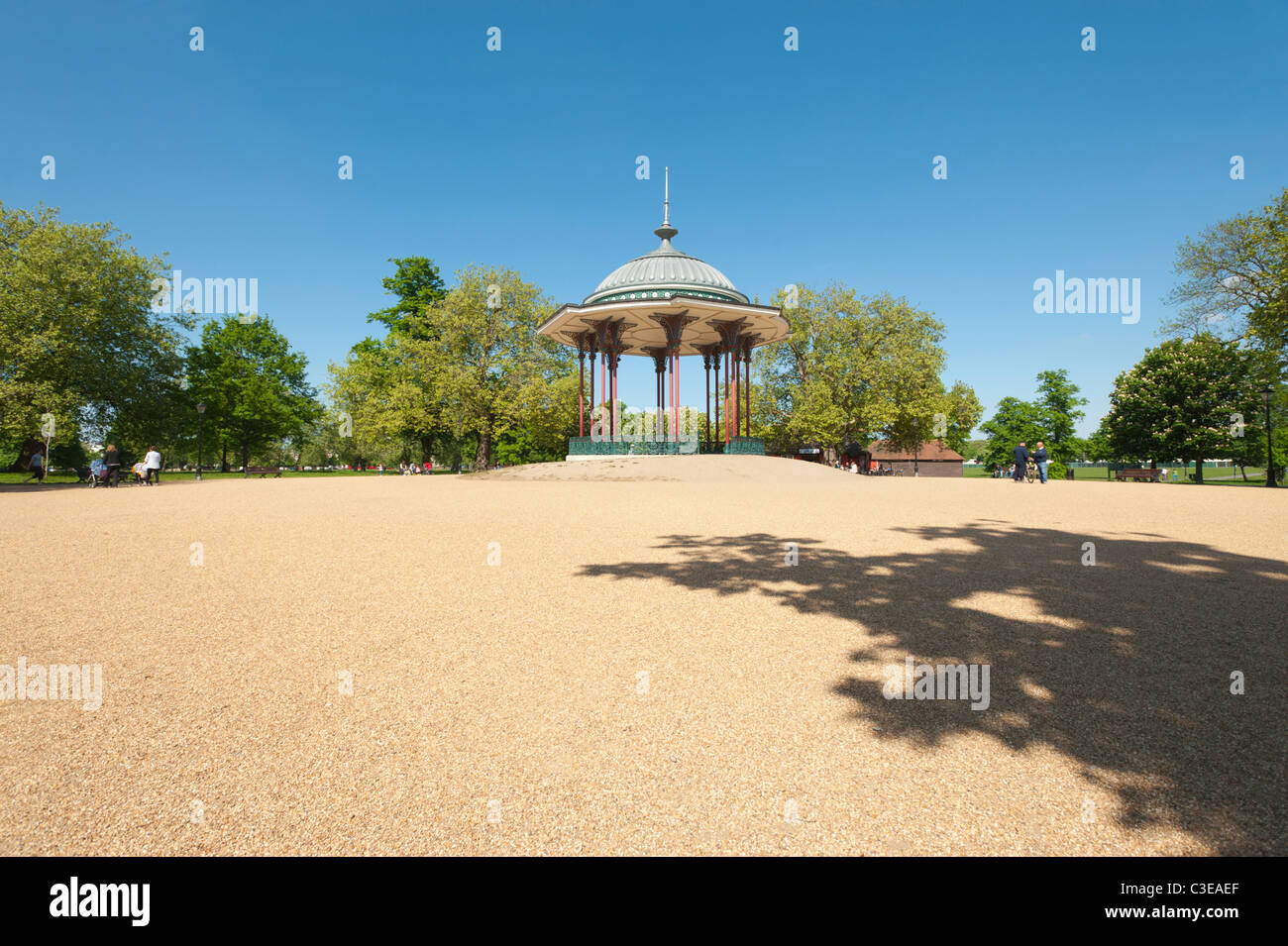 The Bandstand in the middle of Clapham Common, Lambeth, London, England, UK. Stock Photo