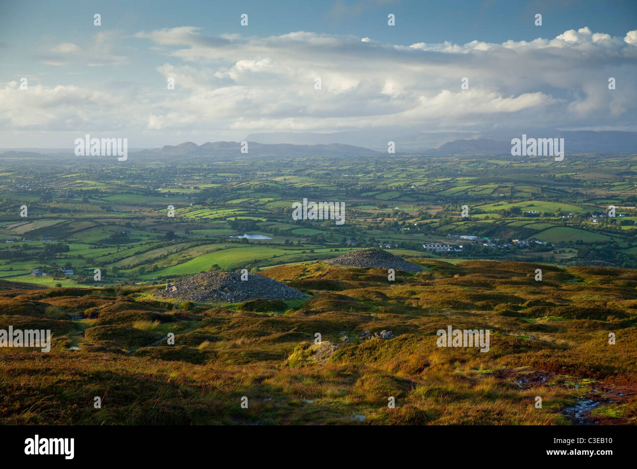 Carrowkeel Passage Tombs, which date from 3200-2400 BC, County Sligo, Ireland. - Stock Image