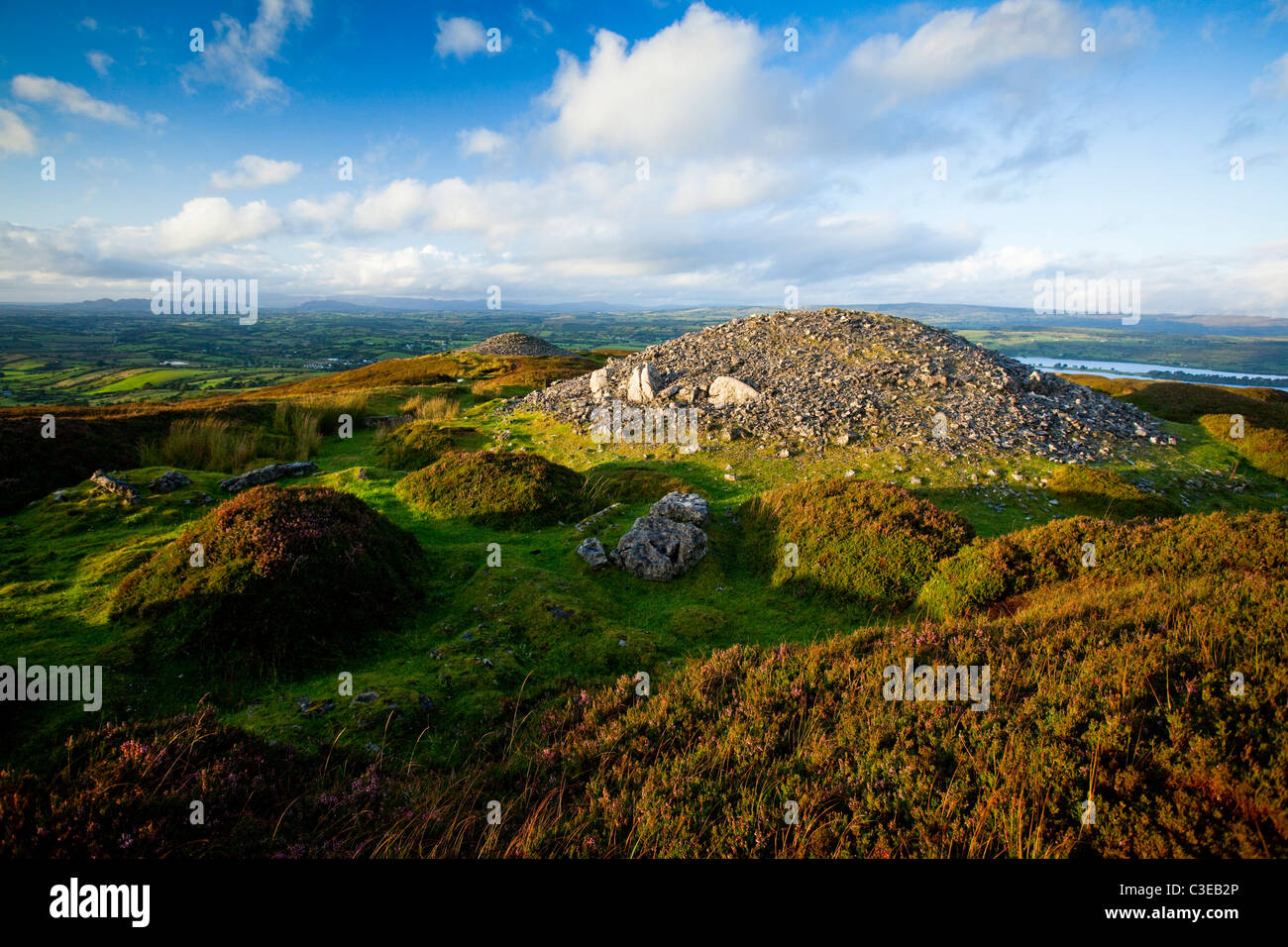 Carrowkeel Passage Tombs, which date from 3200-2400 BC, County Sligo, Ireland. Stock Photo