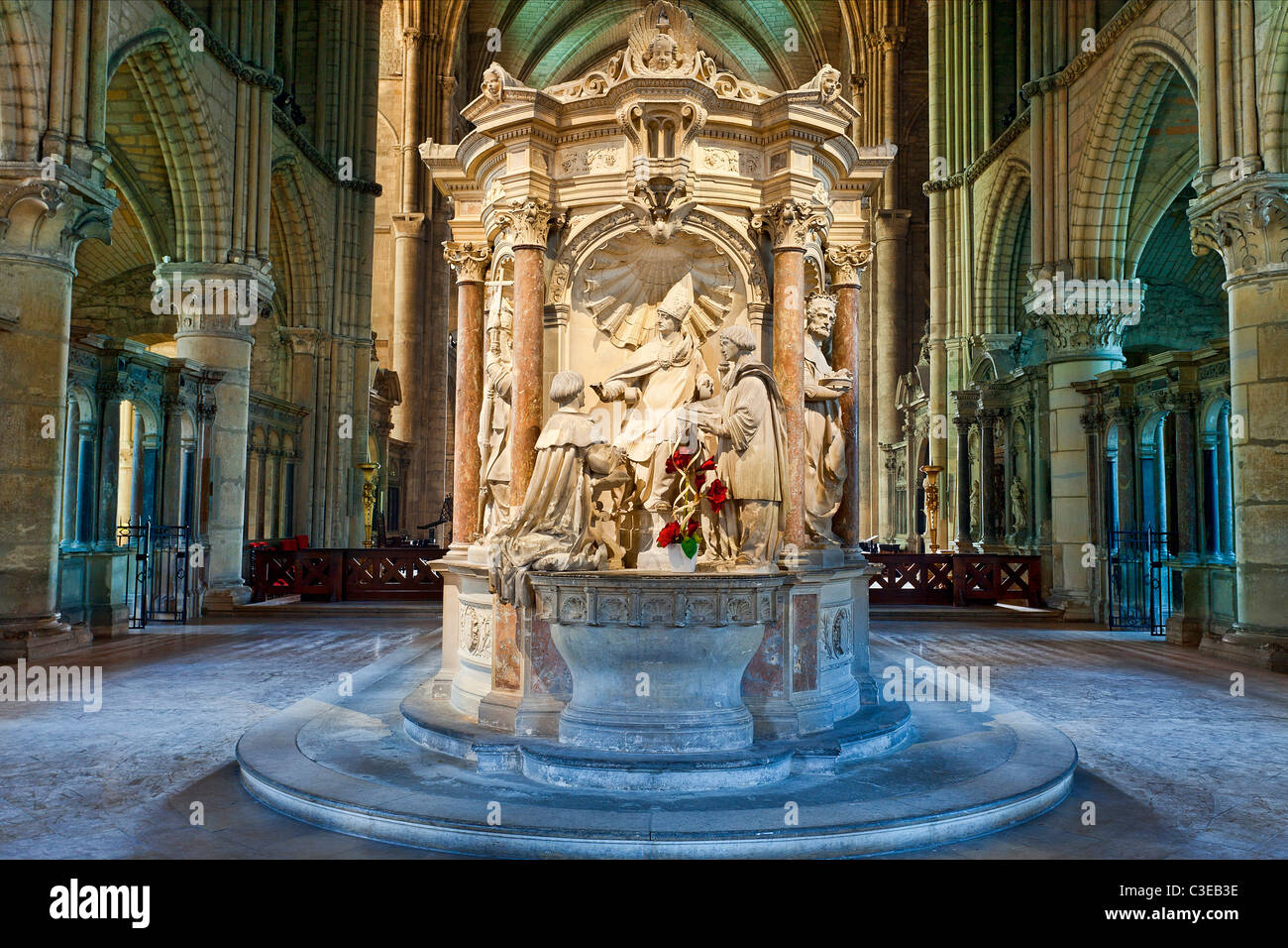Reims, Saint remi Basilica, listed as World Heritage by UNESCO - Stock Image