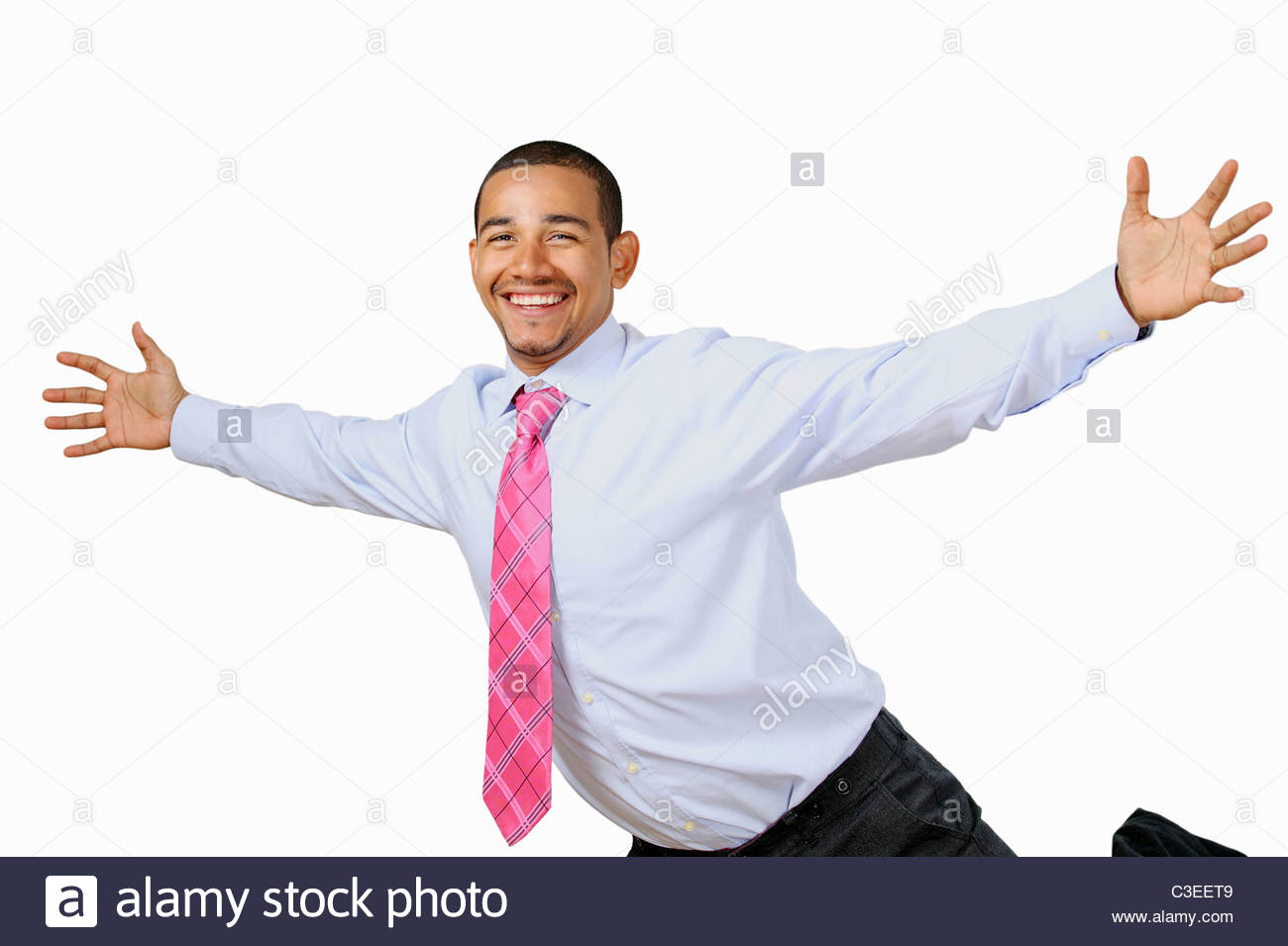 Delighted business man - Stock Image