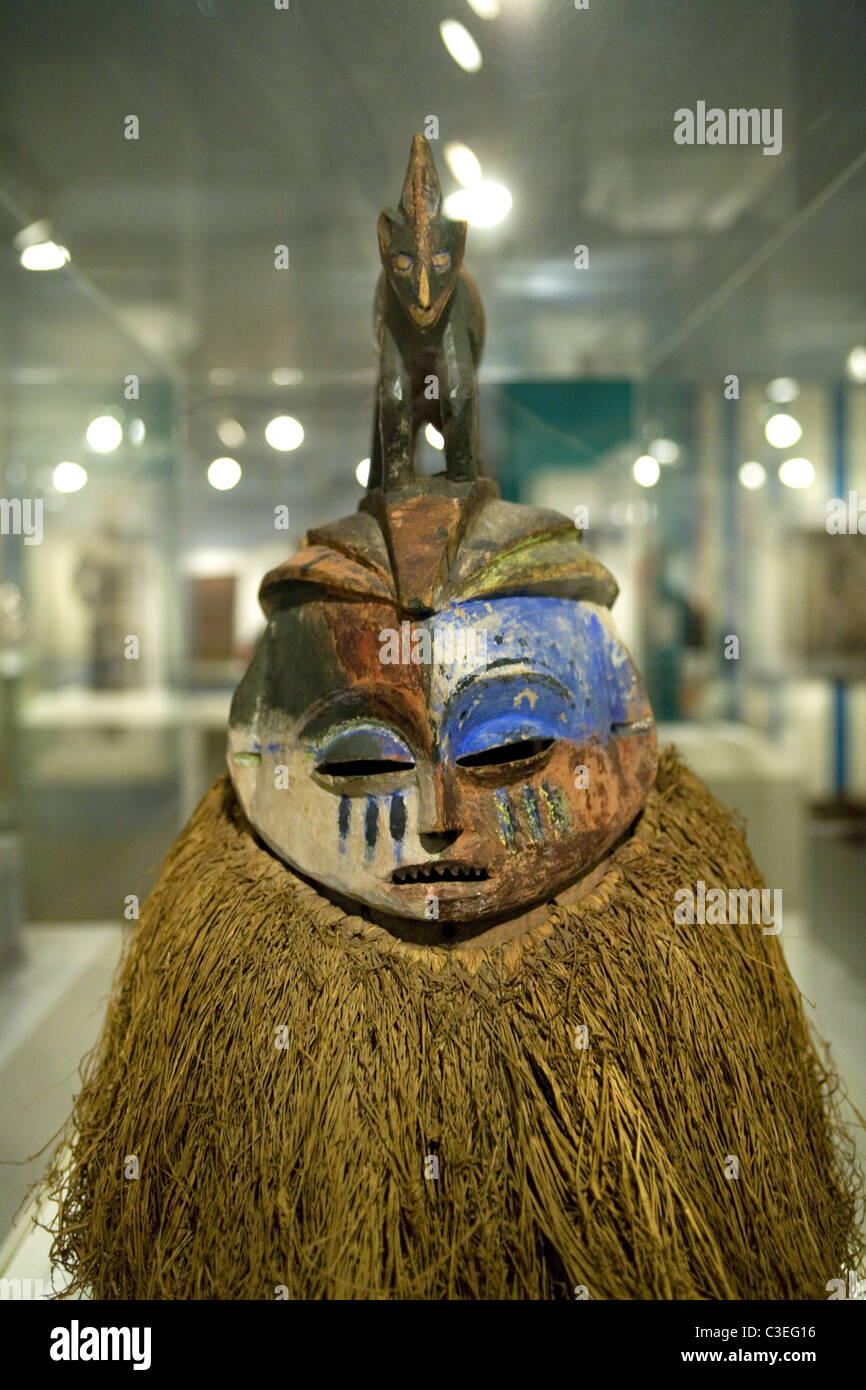 Hemba Mask protects boys of the Suku people during initiation into manhood: Democratic Republic of Congo, 20th Cent. - Stock Image