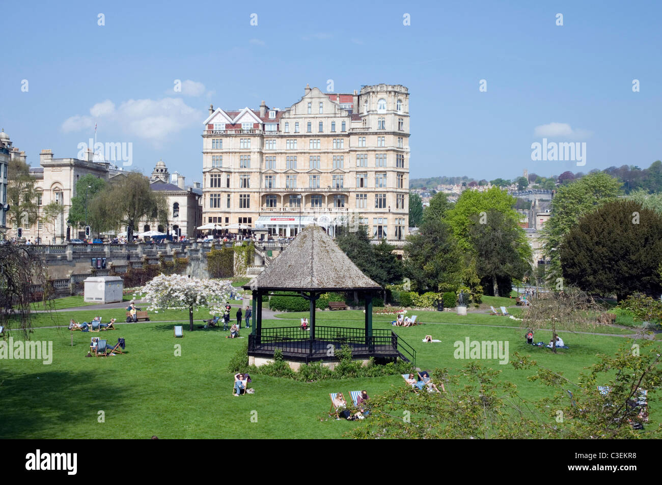 bandstand in park City of Bath England - Stock Image